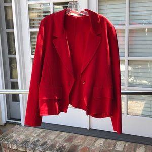 Donna Karan Red Blazer